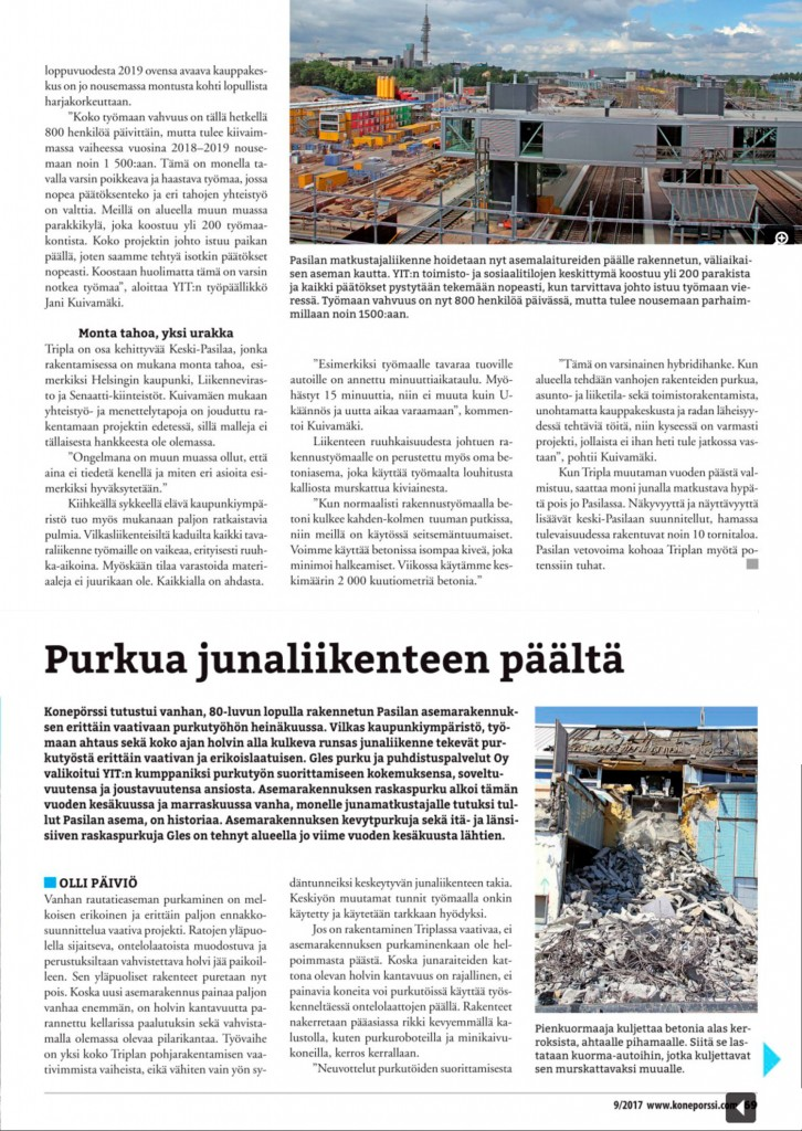 Konepörssi_ 9A-2017 sivu 69 Gles purkutyöt Pasila Tripla