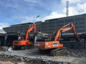 Gles purkaa Pasilan rautatieasemaa uuden kauppakeskuksen tieltä