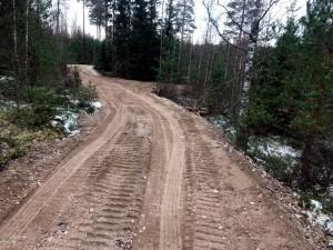 Metsätien rakentaminen Mäntsälässä betonimurskeella