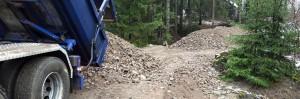 Gles Rock murske metsätien rakentaminen