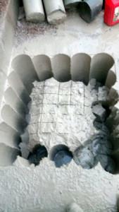 Timanttiporalla 800mm syviä aukkoja anturoihin