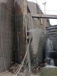 Timanttisahausta Teijon telakalla 67cm syvään 1600mm laikalla