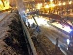 Pasilassa junaradan 500-700 paksun reunapalkin purkua