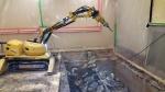 Asbestipurkua Brokk 60 -purkurobotilla