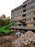 Lahden sairaalan siiven purku on lähes valmis ja murskaus käynnissä