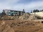 Betonin murskaus purkukohteessa