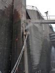 Seinän kiskosahaus Hilti-hydraulisahalla
