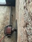 Seinän nollasahaus Hiltin kiskosahalla