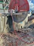 600mm paksun rakenteen katkaisu