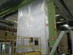 Asbestipurkutyön suojaseinä