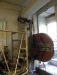 Seinäsahausta Hilti E10 kiskosahalla