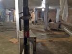 Asbestityötä kellarissa