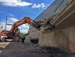 Massiivipurkua: murskausta 34 tonnisella