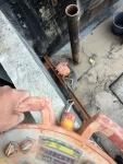30cm vahvojen elementtien purku sahaamalla ja hiab autolla